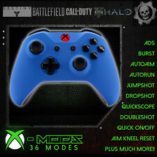 XBOX ONE RAPID FIRE CONTROLLER - BEST MOD ON EBAY!! Blue Rubber Shell - RED LED