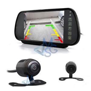 """Kit Retromarcia Specchietto LCD 7"""" Telecamera Posteriore 170° per Auto Camper"""