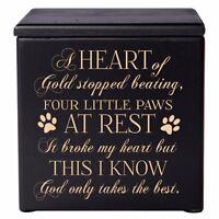 Cremation Urn For Pet Ashes Medium Wooden Memorial Keepsake Box