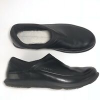 Merrell Quest Moc Shoes Size 7.5 Loafers Black Leather Flats Comfort No Insoles