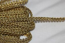 "$1 yard Metallic Gold Braid Braided GIMP sewing doll craft trim 3/8"" wide"