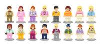 16pcs/set Cute Girls And Boys Building Blocks Bricks Models Figures Sets Toys