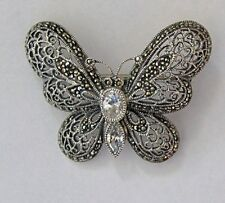 Judith Jack Swaroski butterfly pin