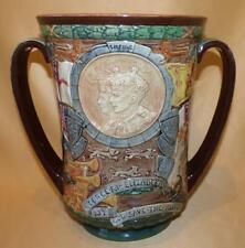 LARGE ROYAL DOULTON KING GEORGE VI CORONATION COMMEMORATIVE LOVING CUP 1937