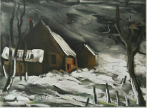 Maurice of Vlaminck: the Maladrerie en Hiver - Lithography Signed 1958, 2000ex