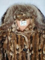 VTG 50's / 60's Faux Fur Jacket COAT Womens M/L Union Made In USA ILGWU