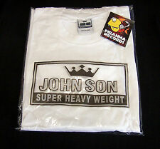 WHITE JohnSon Heavy Weight Cotton XL Crew Neck T-Shirt Piranha Records