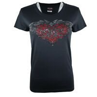 Ladies Harley Davidson New Heart Graphic Cotton Body Fit Tops T Shirts 18