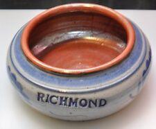 RIchmond Indiana Bowl Salt Glaze Pottery Stoneware Handmade Artist Signed