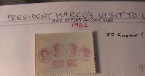 Philippines ERROR RED OFFSET MARCO 1983 50 KNOWN !
