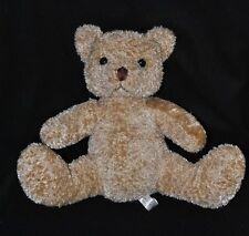 Peluche doudou ours beige DAMART yeux durs 26 cm assis TTBE