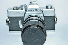 Minolta SRT 201 35 mm Camera w Miranda MC Macro 1:3.5-4.5/35-70 mm TESTED (M-22)