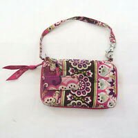Vera Bradley Pink Rhapsody Wrislet Wallet ID Wrap Around Zipper Card Holder