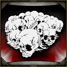 Skull Background 17 -  Airbrush Stencil Template Airsick