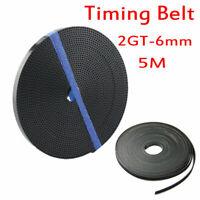 Gt2 Timing Belt Open 6mm Width For 3d Printer Parts Reprap Prusa I3 5m/16.40ft