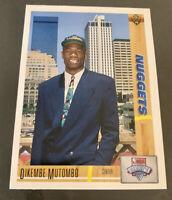 1991 Upper Deck Dikembe Mutombo Nuggets Rookie #3 Mint