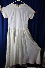 1950's Long White Dress- Medium- Great Costume-Ghost,Spirit,Fairy- BARGAIN