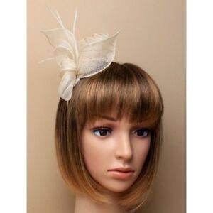 Ivory Feather Fascinator Ladies Day Royal Ascot Races Wedding Headband 5