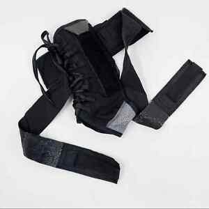 Shock Doctor 851 Ultra Wrap Lace Ankle Support Black Adult Large Adjustable