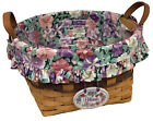 Longaberger May Series Petunia Basket 1997, Liner, Protector, Tie-on