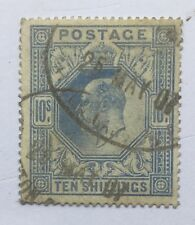 GB Edward VII 1902 10/- Ultramarine Used SG 265. (cat £500)