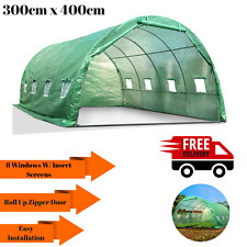 4M Dome Green house Tunnel Greenhouse Hot Shade House Shed Storage Plants Seed