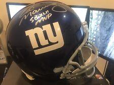 Eli Manning Giants Autographed Full Size Replica SBXLII Helmet Steiner COA