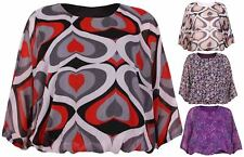 Casual Floral Chiffon Tops & Shirts Plus Size for Women