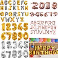 "16""& 40"" Silver Gold Letter Number Foil Balloon Wedding Celebration Party Decor"