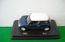 MINI COOPER (2000) BLU SCALA 1:24 BBURAGO MADE IN ITALY