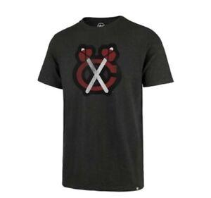 Chicago Blackhawks NHL Men's T-Shirt grey charcoal '47 Brand scrum New hockey