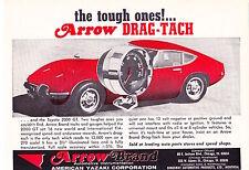 1967 TOYOTA 2000 GT  ~  ORIGINAL SMALLER ARROW DRAG-TACH AD