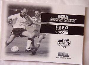 61663 Instruction Booklet - FIFA International Soccer - Sega Game Gear (1994)