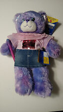Nwt Build A Bear Wizards of Waverly Place Colorful Bear w Sequin Top/Denim