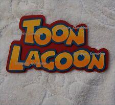 UNIVERSAL STUDIOS TOON LAGOON Die Cut Title Paper Piece - SSFFDeb