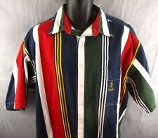Vtg Ralph Lauren Chaps Striped Shirt LT Large Tall Color Block 90's Streetwear