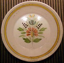 ancienne assiette  CREUSE - fleurs - Nevers - Rouen -Luneville? XVIII ÈME SIÈCLE
