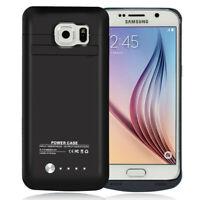 4200mAh External Power Charging Battery Case F Samsung Galaxy S6 SM-G920R G920T