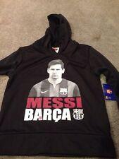 FC Barcelona Messi Youth XLarge Polyester Hoodie Hoody Sweatshirt. Brand New.