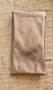 RADLEY London Glasses / Sunglasses Case / Pouch Metalic SILVER New SOFT