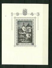 Croatia NDH WWII,  1943, Block 6,  sheet   MNH**