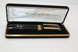 Wells Fargo & Co. Fountain pen & Mechanical Pencil set IRIUM POINT Germany Vin