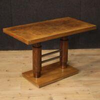 Tavolino basso da salotto moderno e antico design Art Deco mobile in legno 900