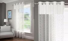 1 x SPARKLY SEQUINS VOILE NET CURTAIN EYELET RING TOP PANEL