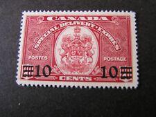 Canada, Scott # E9, 10c. Value Dark Carmine 1939 Special Delivery Issue Mh
