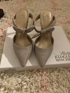 Badgley  Mischka Silver Ankle Strap Size 6