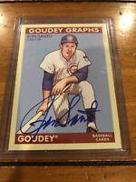 2009 Goudey Graphs Ron Santo On Card Autograph Chicago Cubs Signature HOF