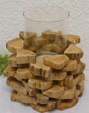 Deko-Kerzenständer & -Teelichthalter im Landhaus-Stil aus Holz für Teelichter