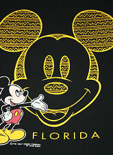 L * vtg 90s zig zag MICKEY MOUSE Florida tribal print t shirt * 39.63