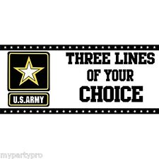 ARMY STRONG CUSTOM BANNER Party Supplies FREE SHIPPING